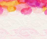 Abstrakter Hintergrund des Watercolour Stockfotos