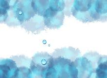 Abstrakter Hintergrund des Watercolour Stockfotografie