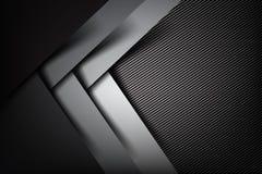 Abstrakter Hintergrund dunkles und schwarzes Kohlenstofffaser-Vektor illustrat vektor abbildung