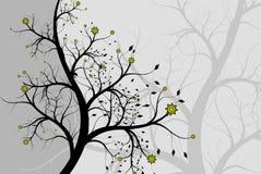 Abstrakter Hintergrund ein Baum mit Farben Lizenzfreies Stockfoto
