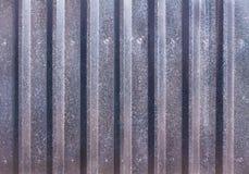Abstrakter Hintergrund eines profilierten Blattzaun Decking lizenzfreie stockfotografie