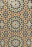 Abstrakter Hintergrund: Eingelegte marokkanische Fliesen Lizenzfreies Stockbild