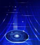 Abstrakter Hintergrund für futuristisches Technologiedesign Lizenzfreies Stockfoto