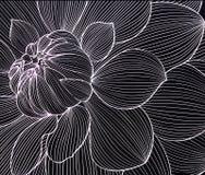 Abstrakter Hintergrund in Form einer Blume an einem Tischrechner oder an einem Telefon stock abbildung
