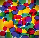 Abstrakter Hintergrund gebildet von den Spracheluftblasen Stockfotografie