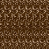 Abstrakter Hintergrund gemacht von den Blättern auf Braun Stockfoto