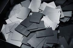 Abstrakter Hintergrund gemacht von den dünnen Metallplatten Stockfoto