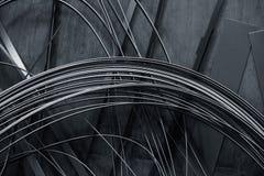 Abstrakter Hintergrund gemacht von den dünnen Metallstreifen Stockbilder