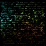 Abstrakter Hintergrund: glühender Text lizenzfreies stockfoto