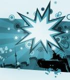 Abstrakter Hintergrund im Blau Lizenzfreie Stockbilder