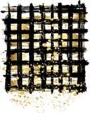 Abstrakter Hintergrund im Schwarzen und im Gold Stockbilder