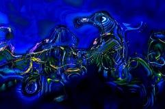 Abstrakter Hintergrund kurvt Blau Stockfoto