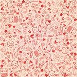 Abstrakter Hintergrund - Liebe kritzelt Sammlung stock abbildung