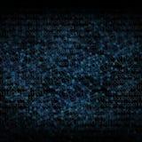 Abstrakter Hintergrund mögen digitale Vernetzungsillustration in der Dunkelheit vektor abbildung