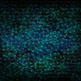 Abstrakter Hintergrund mögen digitale Vernetzungsillustration in der Dunkelheit lizenzfreie abbildung