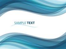 Abstrakter Hintergrund mögen Ozeanwellen Lizenzfreies Stockfoto