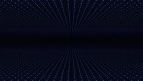 Abstrakter Hintergrund machte von der Reihe Punkten Bewegen durch abstraktes Fractalpunkt-Matrixgitter Fliegen Sie in geometrisch vektor abbildung