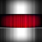 Abstrakter Hintergrund, metallisch und rot. Stockfotos