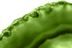 Abstrakter Hintergrund - Mineralgrün des makro PANTONE der grünen Achatscheibe Lizenzfreie Stockfotos