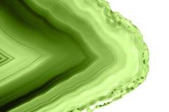 Abstrakter Hintergrund - Mineralgrün des makro PANTONE der grünen Achatscheibe Stockfotos