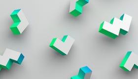 Abstrakter Hintergrund Minimalistic 3D lizenzfreie abbildung