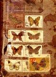 Abstrakter Hintergrund mit alten Stempeln Stockfotografie