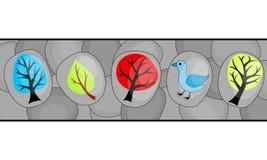 Abstrakter Hintergrund mit Bäumen Lizenzfreies Stockbild