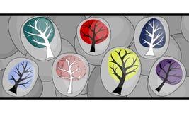 Abstrakter Hintergrund mit Bäumen Lizenzfreies Stockfoto