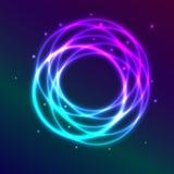 Abstrakter Hintergrund mit blau-purpurroten shadingl Winkeln des Leistungshebels Stockbild
