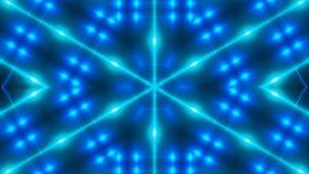 Abstrakter Hintergrund mit blauem kaleidoskopischem VJ-Fractal 3d, das digitalen Hintergrund überträgt stock video footage