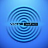Abstrakter Hintergrund mit blauen Kräuselungswellen stock abbildung