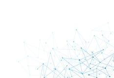 Abstrakter Hintergrund mit blauen Punkten Stockbild