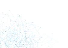 Abstrakter Hintergrund mit blauen Punkten und Netz  Stockbilder