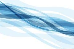 Abstrakter Hintergrund mit blauen Wellen Stockbilder