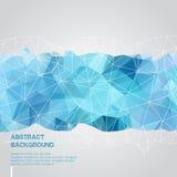 Abstrakter Hintergrund mit blauer Dreieckschablone Lizenzfreie Stockfotos