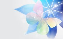 Abstrakter Hintergrund mit Blume und Basisrecheneinheit. Lizenzfreies Stockbild