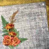 Abstrakter Hintergrund mit Blumen Vektor Abbildung