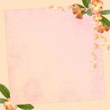 Abstrakter Hintergrund mit Blumen Stock Abbildung