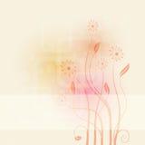 Abstrakter Hintergrund mit Blumen Stockfotografie