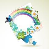Abstrakter Hintergrund mit Blumen Lizenzfreies Stockfoto