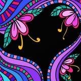Abstrakter Hintergrund mit Blumen Lizenzfreie Stockfotos