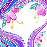 Abstrakter Hintergrund mit Blumen Lizenzfreies Stockbild
