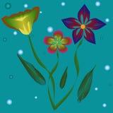 Abstrakter Hintergrund mit Blumen Stockfotos