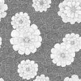 Abstrakter Hintergrund mit Blumen Stockbild