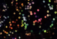 Abstrakter Hintergrund mit bokeh Lichtern und Sternen Stockbild