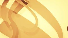 Abstrakter Hintergrund mit braunen Linien, Schleife stock video