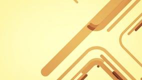 Abstrakter Hintergrund mit braunen Linien und Quadraten, Schleife stock video