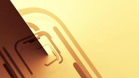 Abstrakter Hintergrund mit braunen Quadraten, Schleife stock video