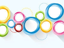 Abstrakter Hintergrund mit bunten Kreisen lizenzfreie abbildung