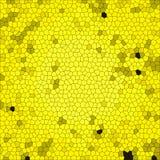 Abstrakter Hintergrund mit bunter Beschaffenheit Gelbe Bienenwabenquadratfliese Lizenzfreie Stockfotografie